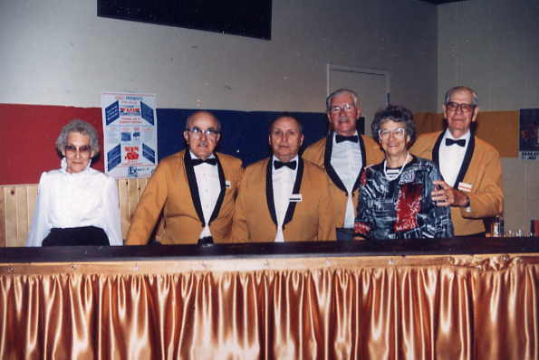 Working the Bar Year: 1988 Place Name: Saskatoon Working the bar: Loretta Wallace, Andy Balogh, Jack Smith, Scotty Brown, Gladys Smith, Ezra Potts