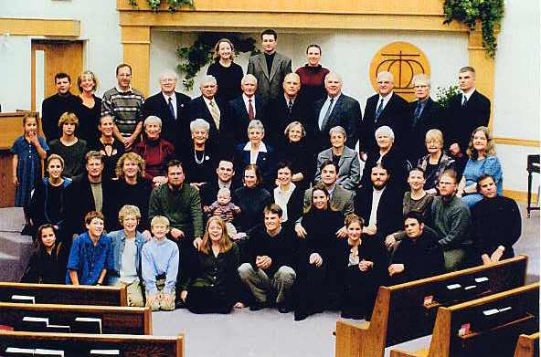 Maria's extended family at her funeral in 2002