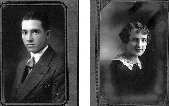Elmer Edmond (Pat) Carlson and Clara Emma Guild Year: c. 1929 Place Name: Moose Jaw, SK Left - Elmer Edmond (Pat) Carlson April 2, 1905 - November 15, 1984 Right - Clara Emma Guild December 25, 1909 - January 4, 2001