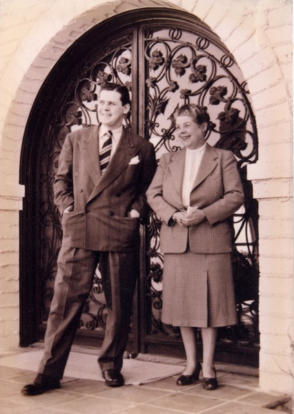 Warren Champ with his mother, Myrtle Champ Year: c. 1945