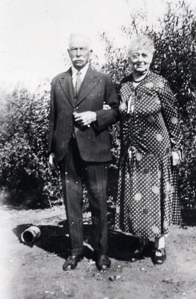 John and Alice Chapman Year: 1936 Place Name: Meskanaw Visiting at the farm at Meskanaw - both aged about 85