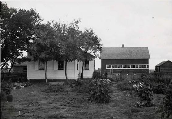 The farmyard where I was born Year: c 1945 Place Name: Blumenheim, SK