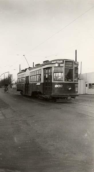 A street car in Saskatoon Year: c 1950 Place Name: Saskatoon, SK