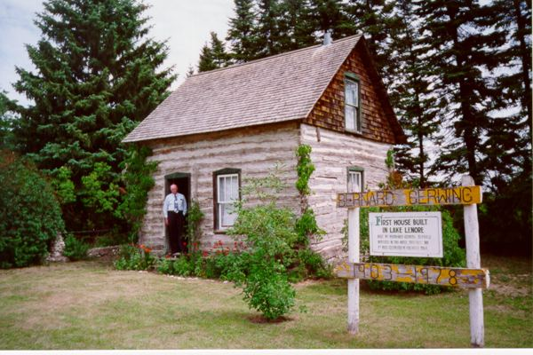Bernhard Gerwing's original house Place Name: Lake Lenore, SK The original Bernhard Gerwing house built in 1903 as it looks today. Herman Gerwing is in the doorway.