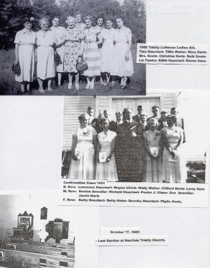 Ladies Aid, Confirmation Class, Last Service Year: 1950, 1951, 1965 Place Name: Saskatoon
