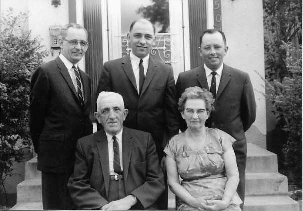 The Wilfred S. Hodgins Family Front row L to R: Wilfred S. Hodgins, Rachel W. Hodgins Back row L to R: W. Rankin Hodgins, Ken Hodgins, Bill Hodgins