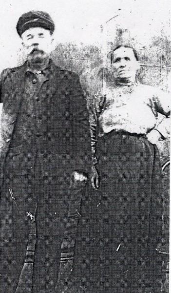 Mihaly Macza and Wife Maria Year: circa 1910 Place Name: Lestock, SK