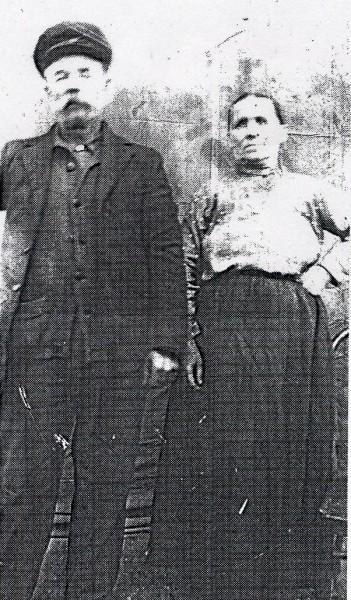 Mihaly Macza and Wife Maria Year: circa 1910 Place Name: Lestock, SK