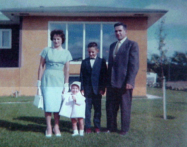 A proud Szabo Family Year: June 1963 In front of their first house and a brand new Canadian Citizen.