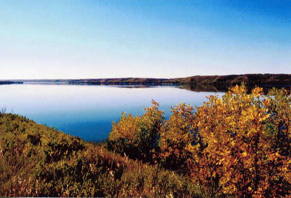 Lake Katepwa Year: 2002 Place Name: Katepwa Village Image Source: Larry Myers This photo is a view of Katepwa Lake in the fall of 2002.