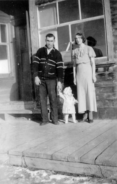 Jack, Agnes and Patricia at Loon Lake