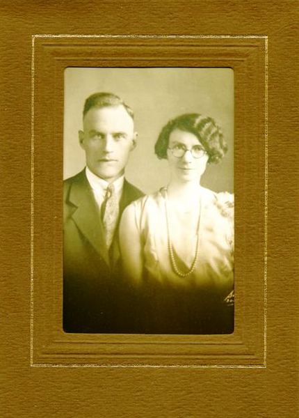 Boyd & Laura Livingston Year: 1929 Place Name: St. Walburg, SK Wedding photo.
