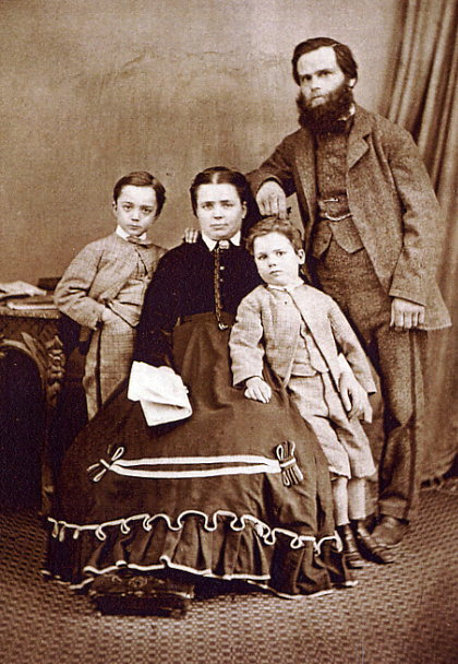 The Thomas Loveridge Family about 1867 Year: circa 1867 Place Name: Cheltenham, England