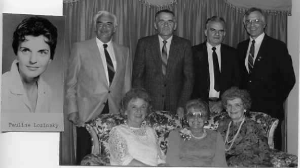 The Lozinsky Family Year: 1989 Standing: left to right - Theodore, Michael, Nicholas, Joseph. Seated:left to right - Katherine, Marion, Anne. Pauline (insert)