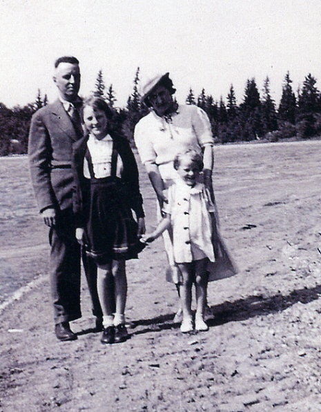 The Martin Family at Crystal Lake Year: 1937 Place Name: Sturgis, SK This photo was taken when the family was on their way from Shaunavon to Sturgis for Russell to take up duties as a school inspector
