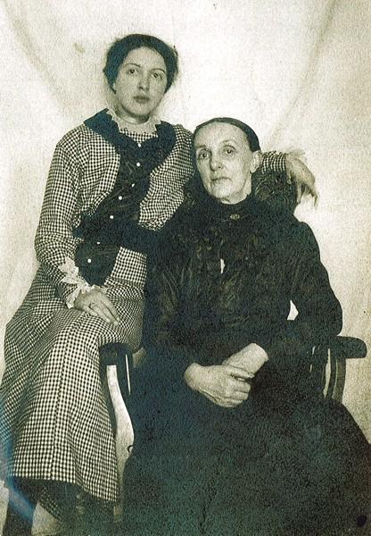 Marjorie Murdoch and Mother Place Name: Girvin, SK Marjorie Murdoch and her mother, Sarah Ann (Benham) Murdoch