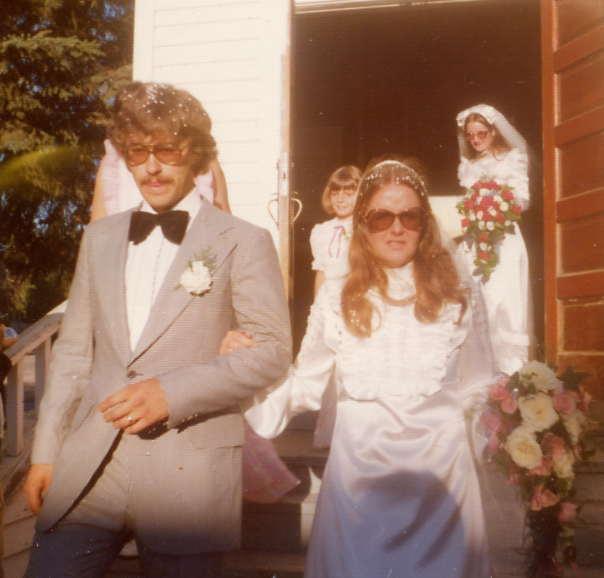 Gary & Wendy Year: 1975 Place Name: Biggar, SK Wedding July 1975