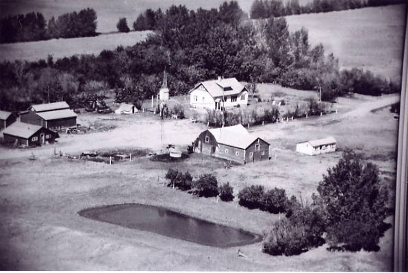 The Pedersen Farm Year: 1966 Place Name: Torquay, SK A new house replaced the brown shingled home in 1947 but the original barn, granaries and chicken coop still stand.