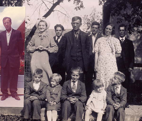 Meet My Family Year: 1937 Place Name: Duck Lake Back-Odildn, Marcel, Clement Insert-Etienne Middle-Simone, Dad, Mom Front-Raymond, Aline, Leonard, Jeannine, Antoine Deceased-Lucien, Andre, Paul-Emile