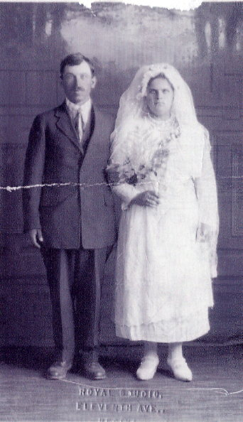 NiculaiPetrar and Domnica Iremescu Year: 1922 Place Name: Regina Image Source: Royal Studio Taken following their wedding May 16, 1922