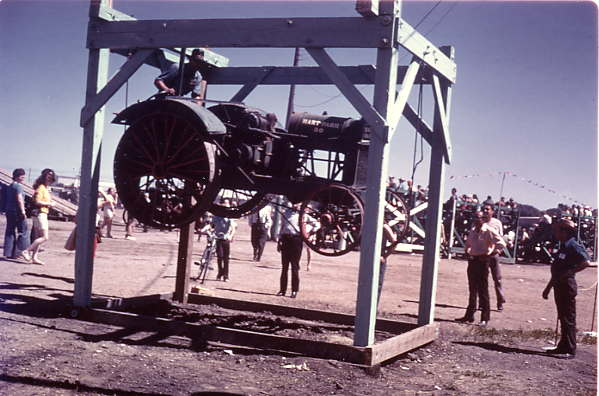 "Hart Parr ""Bootstrap"" demonstration Year: 1970's Pioneer Days"