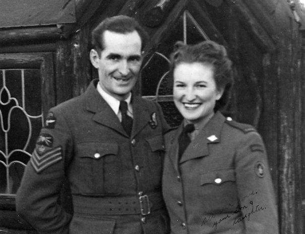 Year: December 1944 Place Name: Watford, Herts, England Eric and Nona on leave at Aunt and Uncle Giffin.