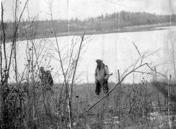 Catching poachers in Prince Albert National Park Year: Pre 1938 Place Name: Prince Albert National Park First use of brownie-box camera and a trip wire to catch poachers in Prince Albert National Park. Technique written up in RCMP Archives. Captured by S. Clifford Pocock, PANP Warden.