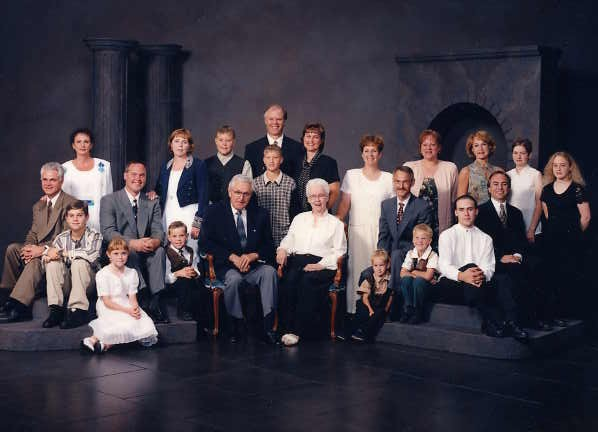 Walter and Sonia Podiluk's Family Year: 1997 Taken at their 50th Wedding Anniversary