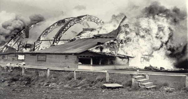 Fire at Eston Rink Year: circa 1951 Place Name: Eston