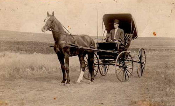 Out for a Drive Year: c. 1909-1913 Sam Shaver as a young man.