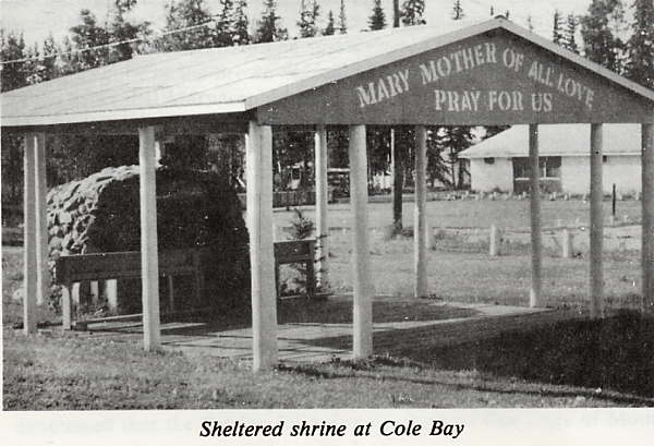 Sheltered shrine at Cole Bay Place Name: Canoe Lake, SK