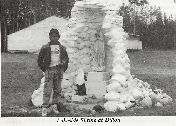 Lakeside Shrine at Dillon Place Name: Dillon, SK