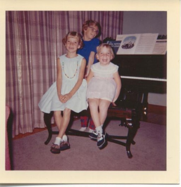 Lois, Patricia and Joan Sparling Year: 1961 Place Name: Regina Image Source: Fred Sparling We are the three daughters of Frederick H. Sparling, QC and Jean E. M. Wilder. We are seated in front of the grand piano inheritted from Herbert G. Sparling.