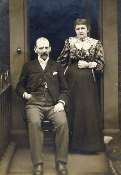 John Edward & Elizabeth Sunderland Year: 1906 Place Name: Halifax, England Taken the Sunday before they left England for Canada (Swanson, SK)