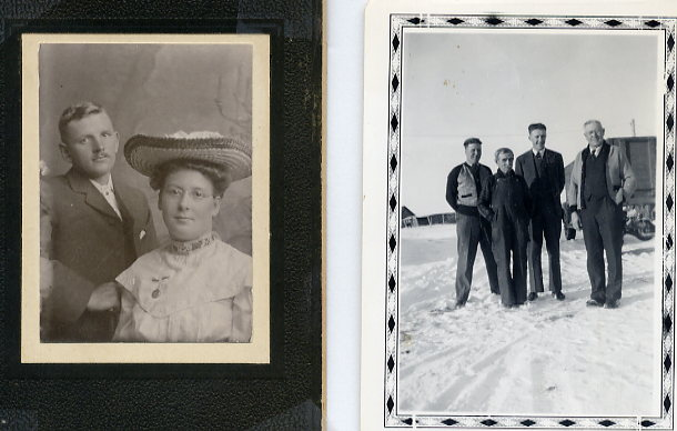 L: Sunderland R: Beaton Year: 1903/1943 left: Walter and Ruth Sunderland right: Lawrence Beaton, Abram Sunderland, Ab Chizek, William Beaton