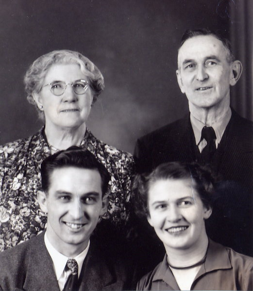 Tett Family Year: 1946 Doc and Gladys Tett and their children, Harold and Betty