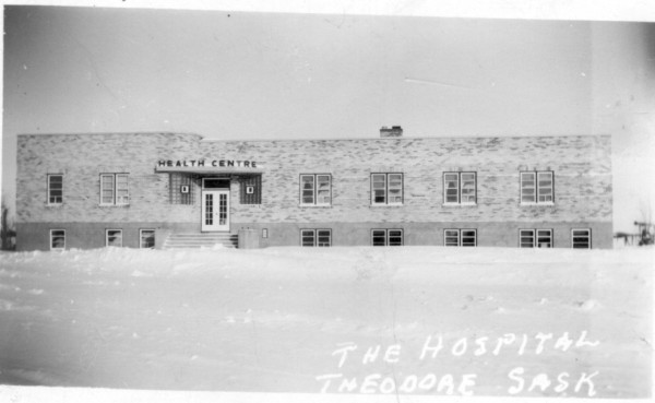 Theodore Union Hospital Year: 1953 Place Name: Theodore Image Source: Not Known The first hospital in Theodore built in 1947. It was a 30 bed unit and at the time was considered by many to be one of the finest small hospitals in Western Canada. The first physician in the facility was Doctor Ben Schwartz. The official opening was on December 17, 1947 with the Hon. T.C. Douglas premier of Saskatchewan officiating. It was replaced in the mid 1980's with the present health care facility.