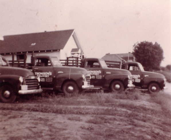 4 trucks Place Name: Saskatoon Jack, Ray Thomson, Dad Thomson, Hugh Cameron bought our 46 Dodge and traded in for 51 GM