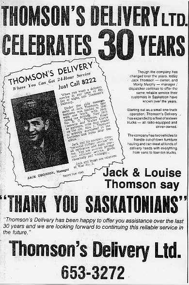 Star Phoenix Advertisement Place Name: Saskatoon