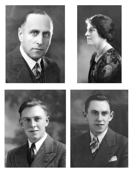 Portraits 1 Top left: Mr. W. W. Smith Top right: Mrs. W. W. Smith Bottom left: Jerry Smith Bottom right: W. W. Smith, Jr.