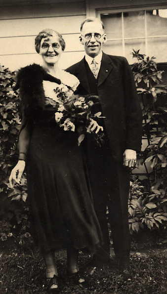 Electa and A. J. (Albert Joseph) Year: circa 1932 C. A.'s parents on their 25 th Wedding Anniversary