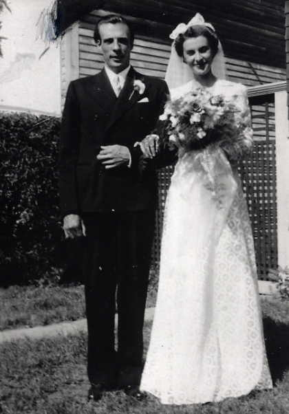 C. A. and Eileen (nee Kennedy) Wheaton Year: 1939 wedding photo July 15, 1939